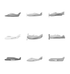 design aviation and airline symbol set vector image
