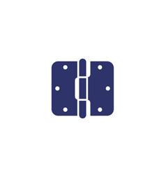 Door hinge icon on white vector