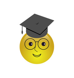 emoji clever smiley icon vector image