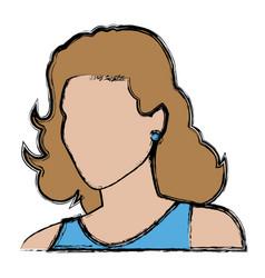 female default woman portrait business vector image
