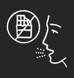 Food allergy chalk icon vector