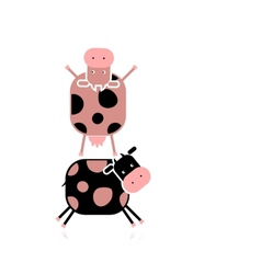 Funny cows for your design vector