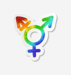 Gender identity icon Intersex or transgender sign vector