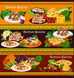 german meat dishes salads and desserts vector image