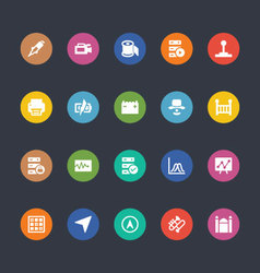 Glyphs Colored Icons 31 vector