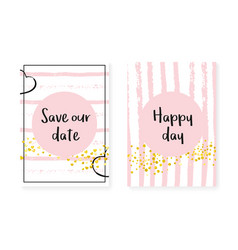 Gold glitter dots with sequins wedding and bridal vector
