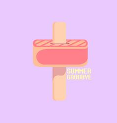goodbye summer concept vector image