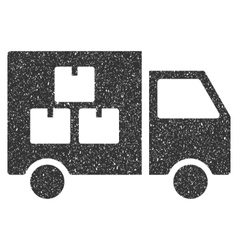 Goods Transportation Car Icon Rubber Stamp vector image
