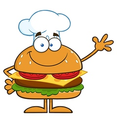 Hamburger Chef Cartoon vector