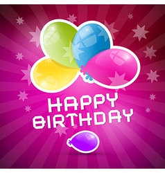 Happy Birthday Retro Pink Background with Colorful vector