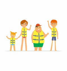 happy children on vacation - cartoon people vector image