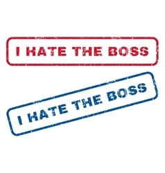 I Hate The Boss Rubber Stamps vector