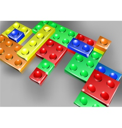 Interlock bricks design vector image