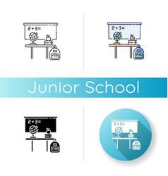 Junior school icon vector