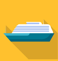 mammoth ship icon flat style vector image