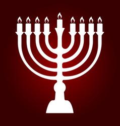 menorah for hanukkah vector image