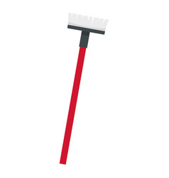 mop brush icon flat style vector image