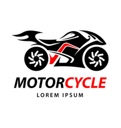 motorcycle tribal logo template vector image