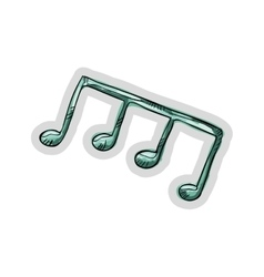 music note element vector image