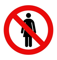 No woman sign vector image vector image