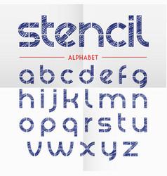 Pen scribbled stencil alphabet letters vector