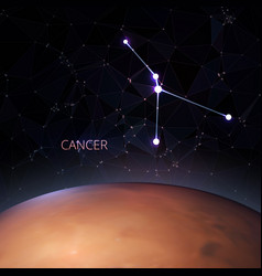 planet with a kind of the zodiac cancer vector image