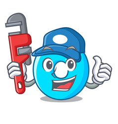 plumber number zero isolated on the mascot vector image