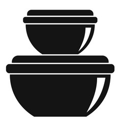 Product container icon simple style vector