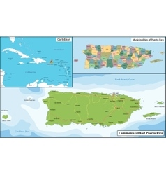 Puerto Rico map vector