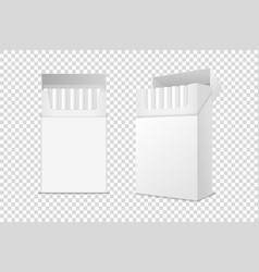 Realistic closed and opened clear blank vector
