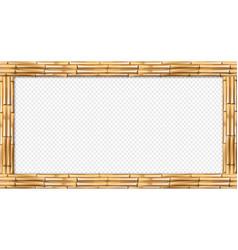 rectangle brown bamboo poles wooden border vector image