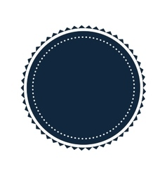 Round badge icon vector