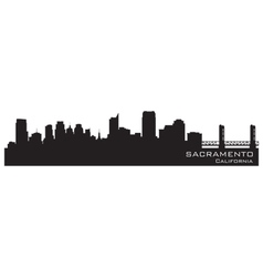 Sacramento California skyline Detailed silhouette vector image