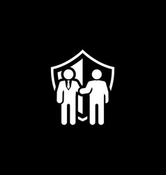 Secure deal icon flat design vector
