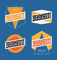 Set of Abstract Line Graphic Design Templates for vector image