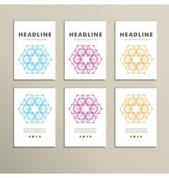 set of stylish modern textures hexagon vector image