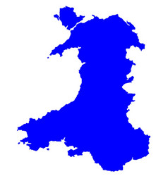 Silhouette map of wales vector