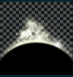 spacescape with planet and stars vector image