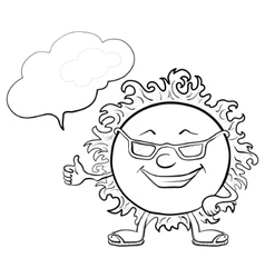 sun smiley vector image