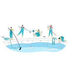 Swimming pool maintenance vector