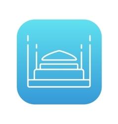Taj Mahal line icon vector image