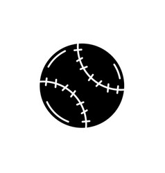 tennis ball black icon sign on isolated vector image