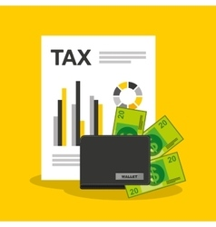 time tax payment icon vector image