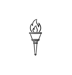 Torch hand drawn outline doodle icon vector