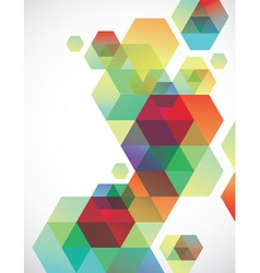 Transparent Hexagons vector image