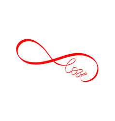 Wedding card endless love infinity love forever vector