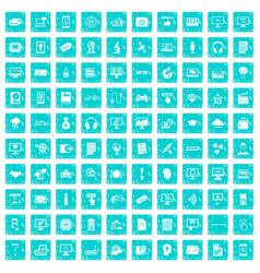 100 website icons set grunge blue vector image vector image