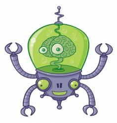 Brainbot robot with brain vector