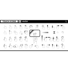 web icons Hand touchscreen interface vector image vector image