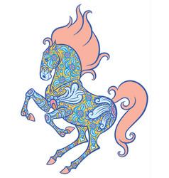 zentangle ornate horse vector image vector image